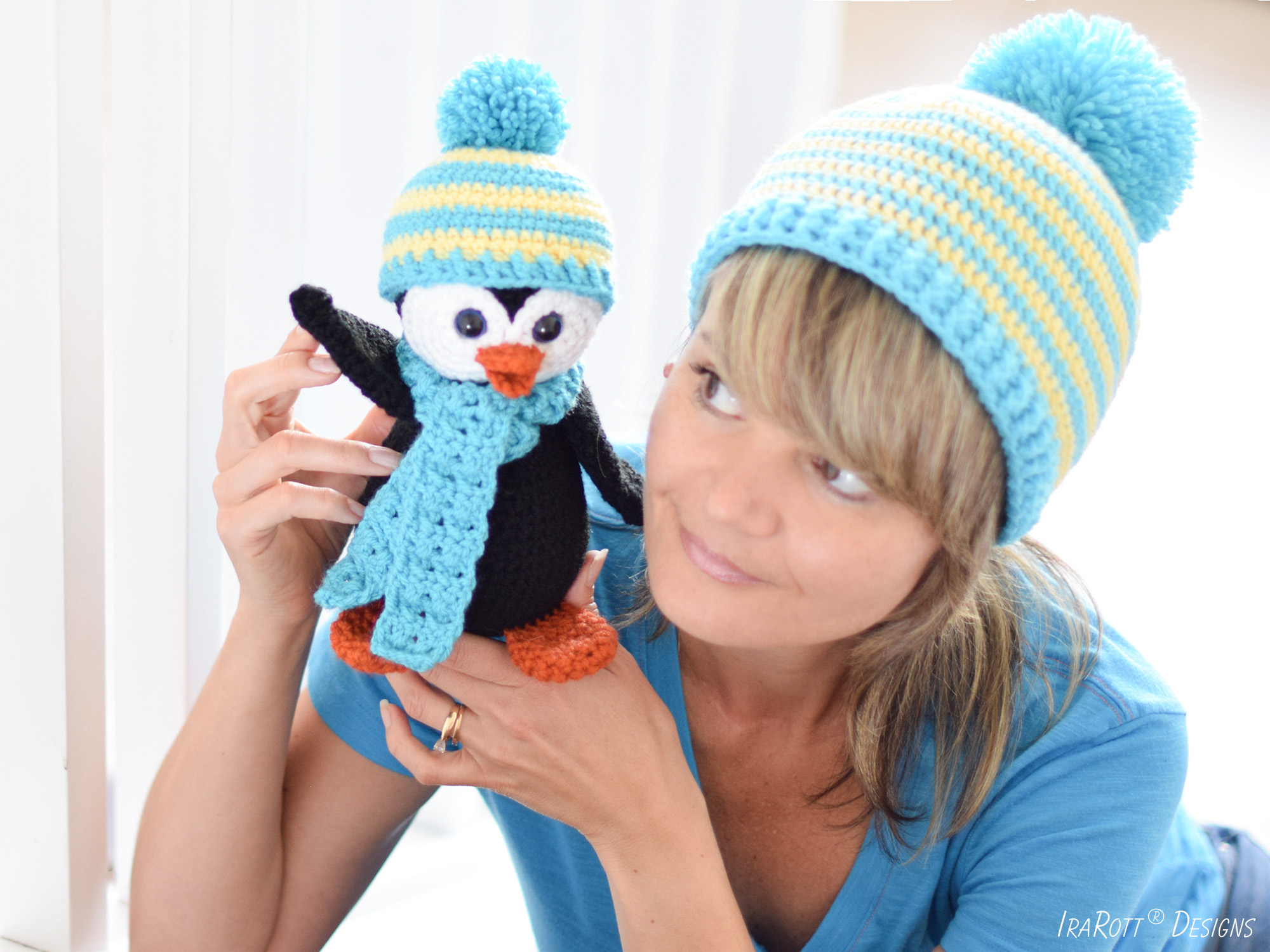 Roma The Happy Penguin And Hat PDF Crochet Pattern by IraRott