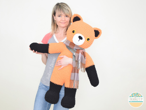 Roxy The Forest Fox Big Amigurumi PDF Crochet Pattern With Instant Download by IraRott