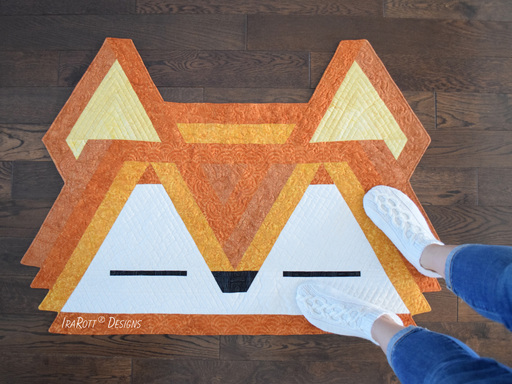 Roxy The Forest Fox Jelly Roll Rug PDF Quilting Pattern By IraRott