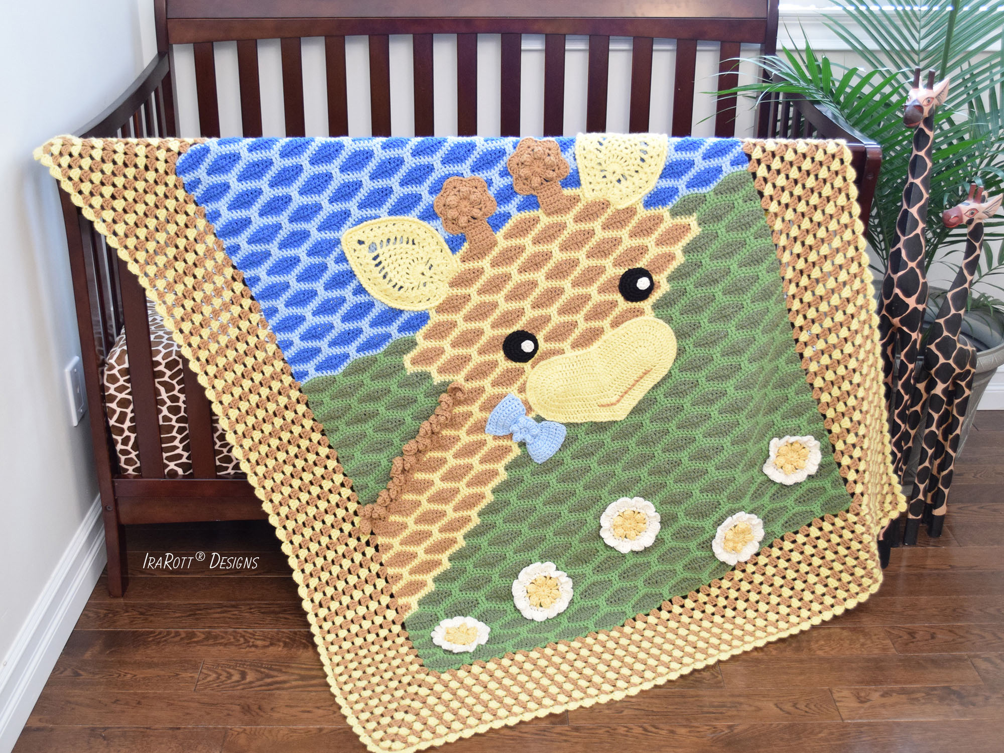 Rusty the Giraffe Blanket PDF Crochet Pattern by IraRott