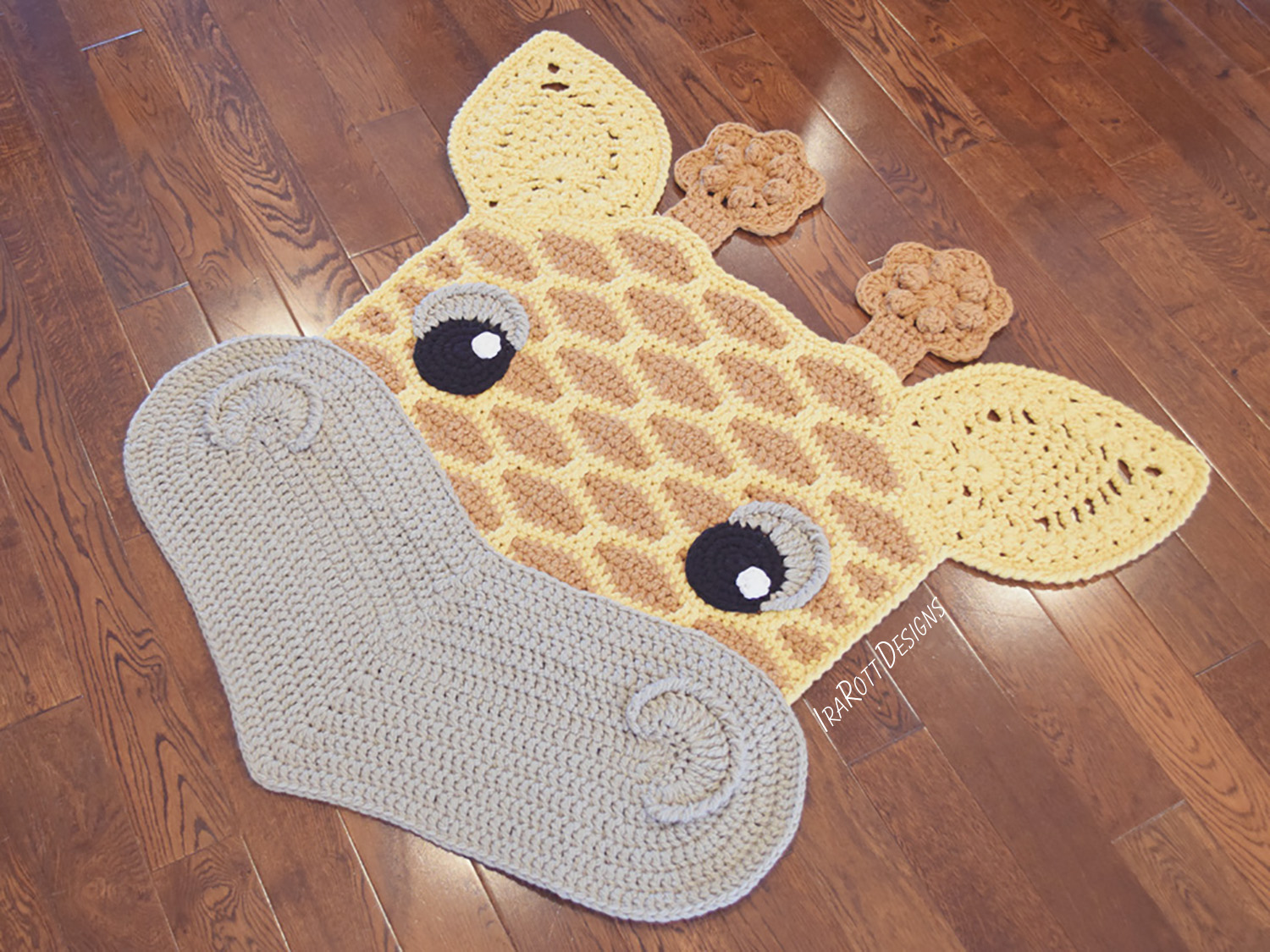 Rusty The Giraffe Rug Pdf Crochet Pattern Irarott Inc