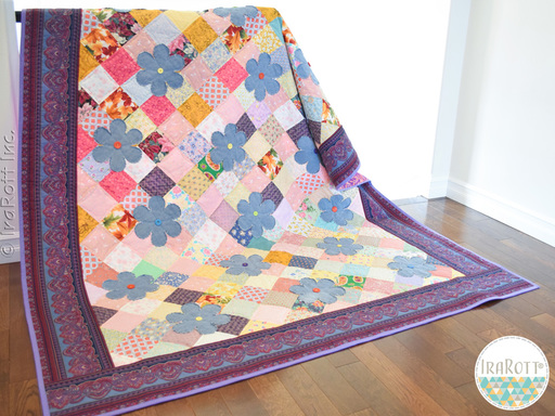 Scrappy Daisy Garden Quilt PDF Quilting Pattern By IraRott