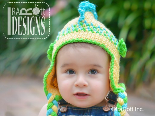 Seahorse Hat and Amigurumi Toy Crochet Pattern by IraRott