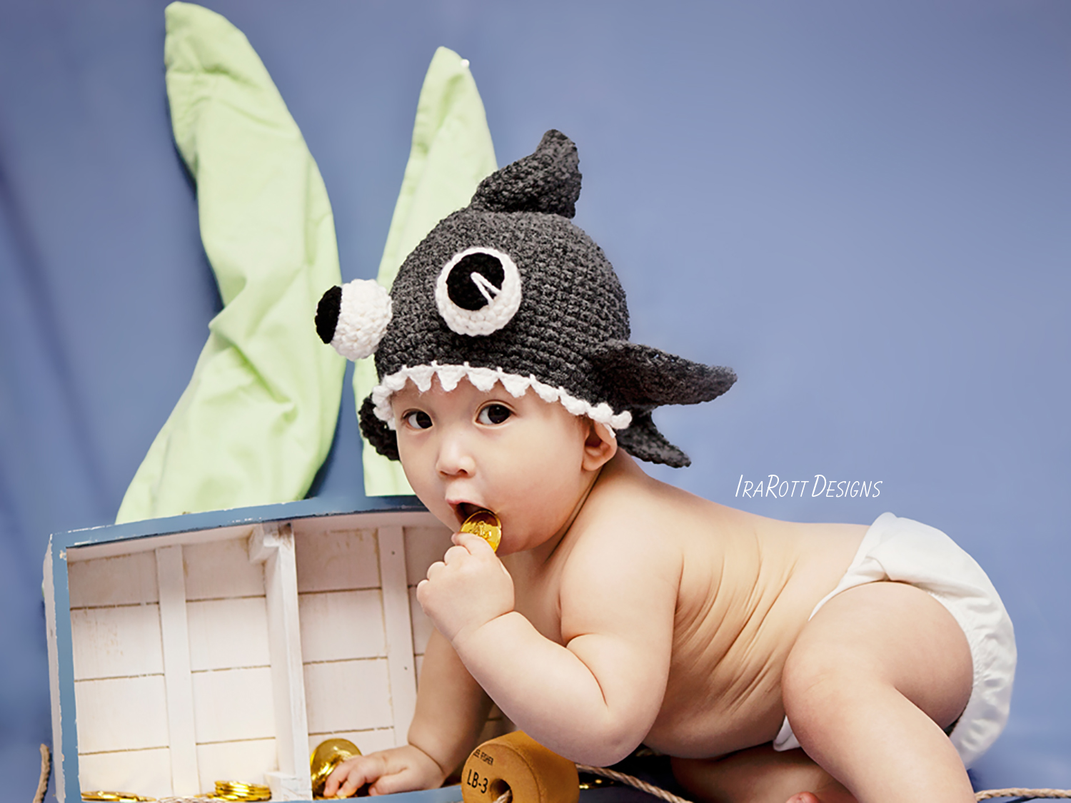 Spike The Shark Hat With Googly Eyes Pdf Crochet Pattern Irarott Inc