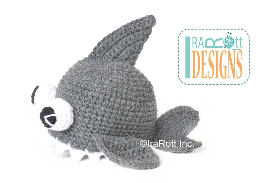 Spike The Shark Hat With Googly Eyes Pdf Crochet Pattern Irarott Inc