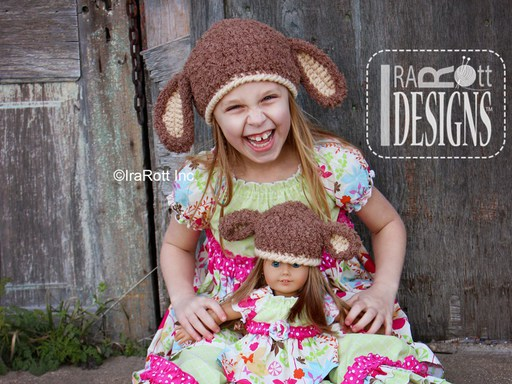Sheep Animal Beanie Hat Crochet Pattern for boys and girls of all ages by IraRott