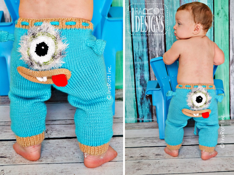 Creatures Pants With Silly Faces Pdf Knit Pattern Irarott Inc