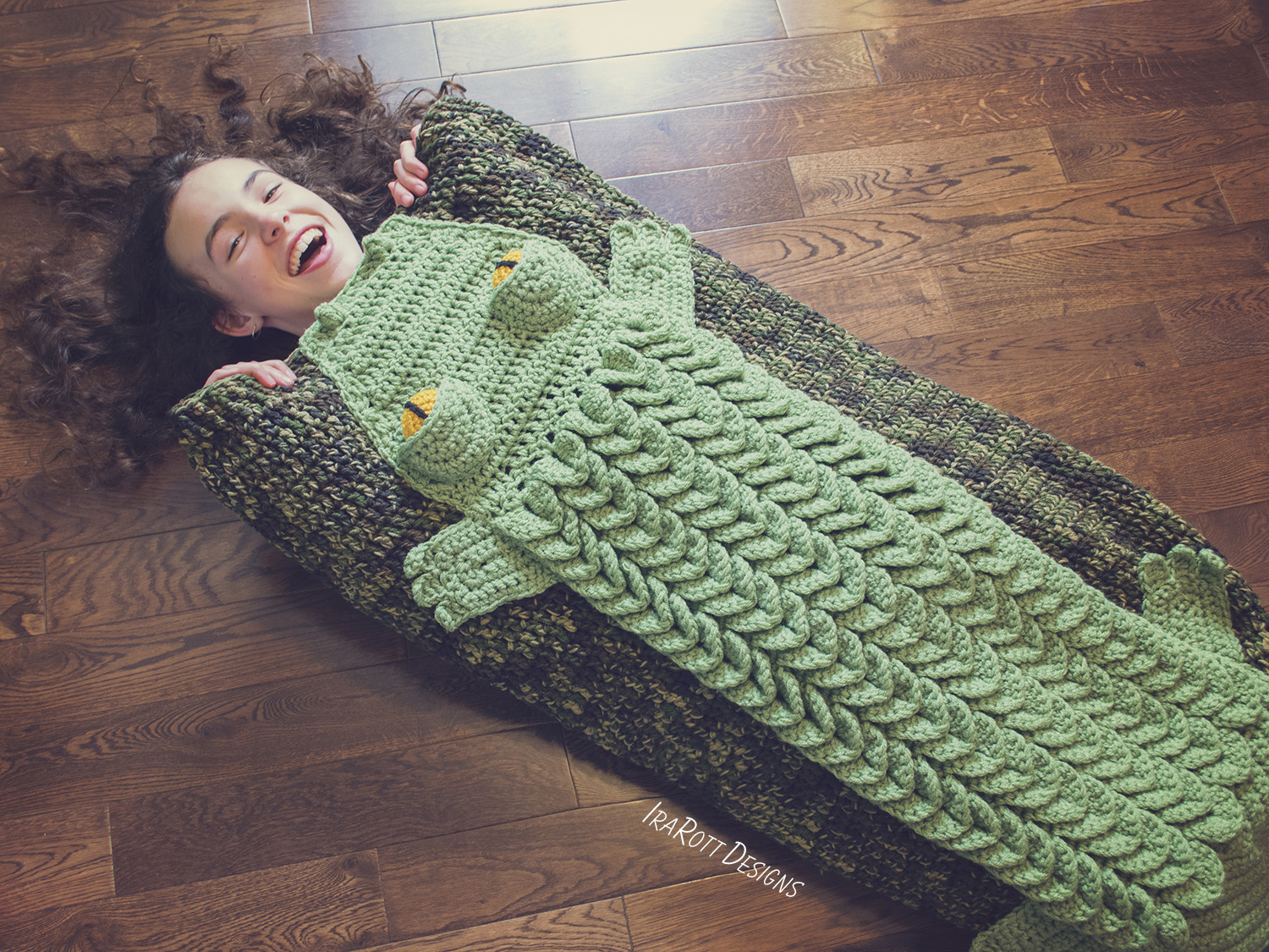 Snappy Simon Crocodile Sleeping Bag Crochet Pattern Pdf