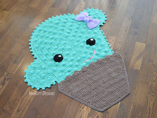 Snuggles The Cactus Rug PDF Crochet Pattern With Instant Download by IraRott