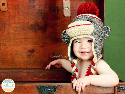 Spunky The Sock Monkey Hat PDF Crochet Pattern With Instant Download by IraRott