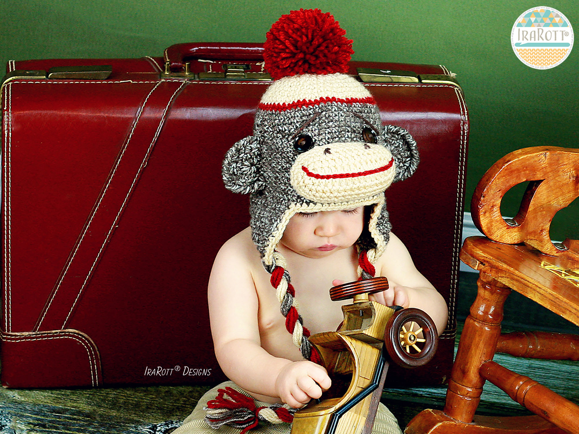 Classic Twist Sock Monkey Hat And 21 Inch Sock Monkey Doll Pdf