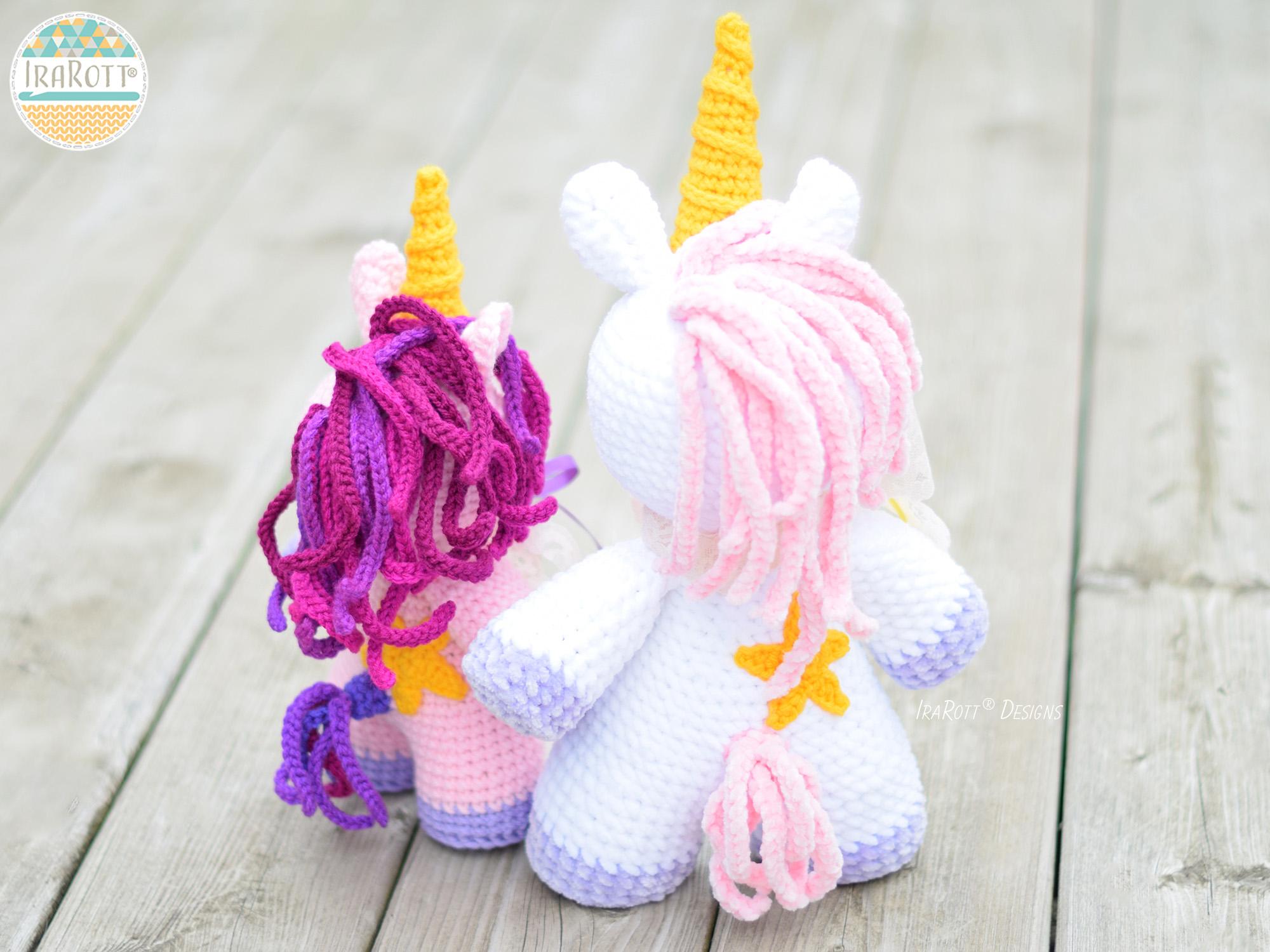 Sophia the Chubby Little Unicorn Crochet Pattern By IraRott 5