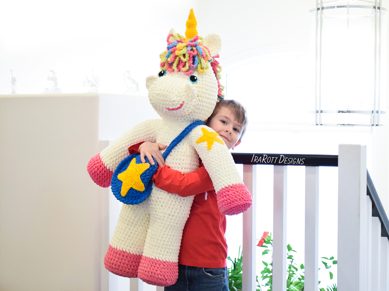 Amigurumi Unicorn : Sophia the starry unicorn big amigurumi pdf crochet pattern