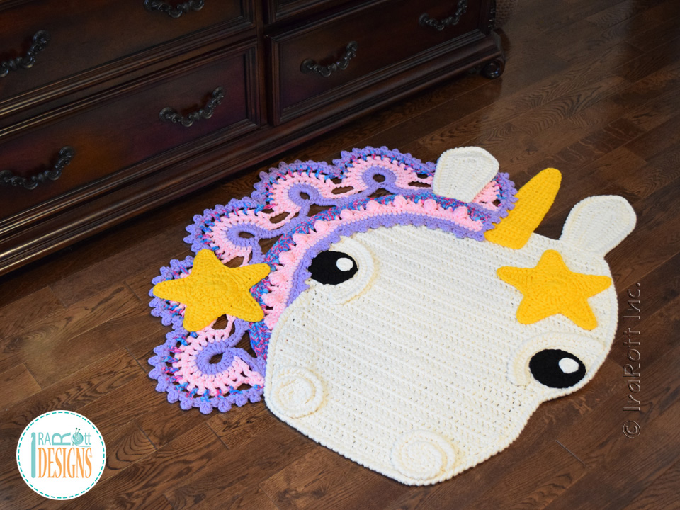 Sophia The Starry Unicorn Rug Pdf Crochet Pattern