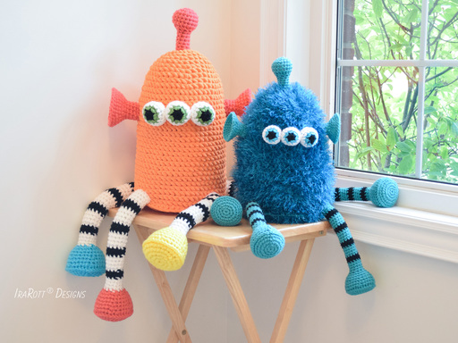 ZaZu The Space Monster Toy PDF Crochet Pattern by IraRott