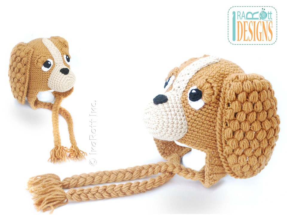 Crochet Pattern Baby Dog Hat : CoCo the Spaniel Puppy Dog Hat PDF Crochet Pattern ...