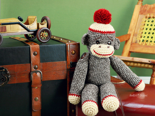 Spunky The Big Sock Monkey Amigurumi PDF Crochet Pattern With Instant Download by IraRott