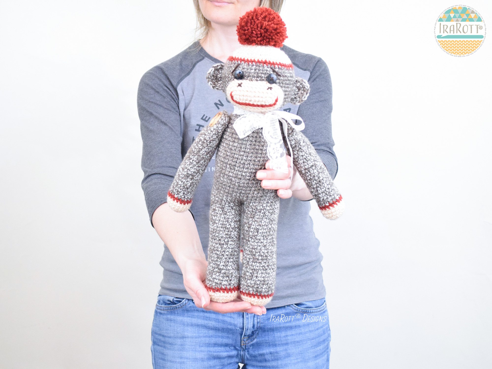 Ravelry: George the Monkey - Large Amigurumi Stuffed Animal ... | 1125x1500
