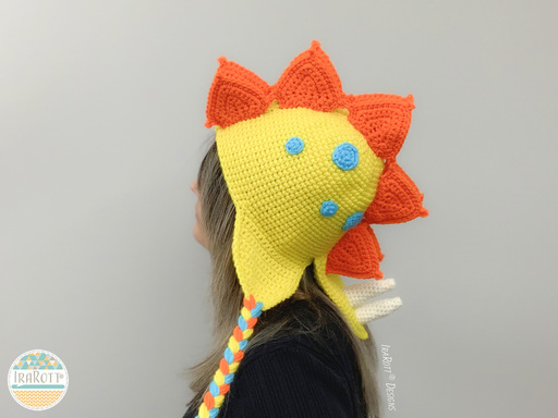 Dino Dinosaur Stegosaurus Hat Crochet Pattern for Babies Kids and Infants
