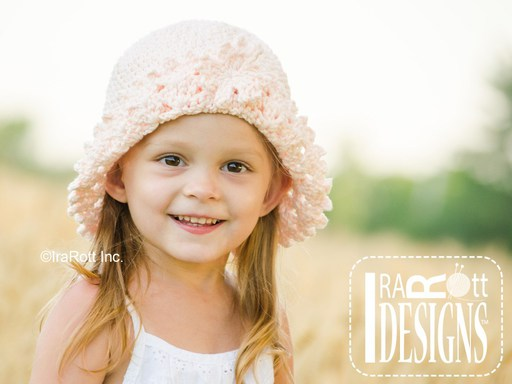 Summer Sun Hat Crochet Pattern for babies kids and adults by IraRott