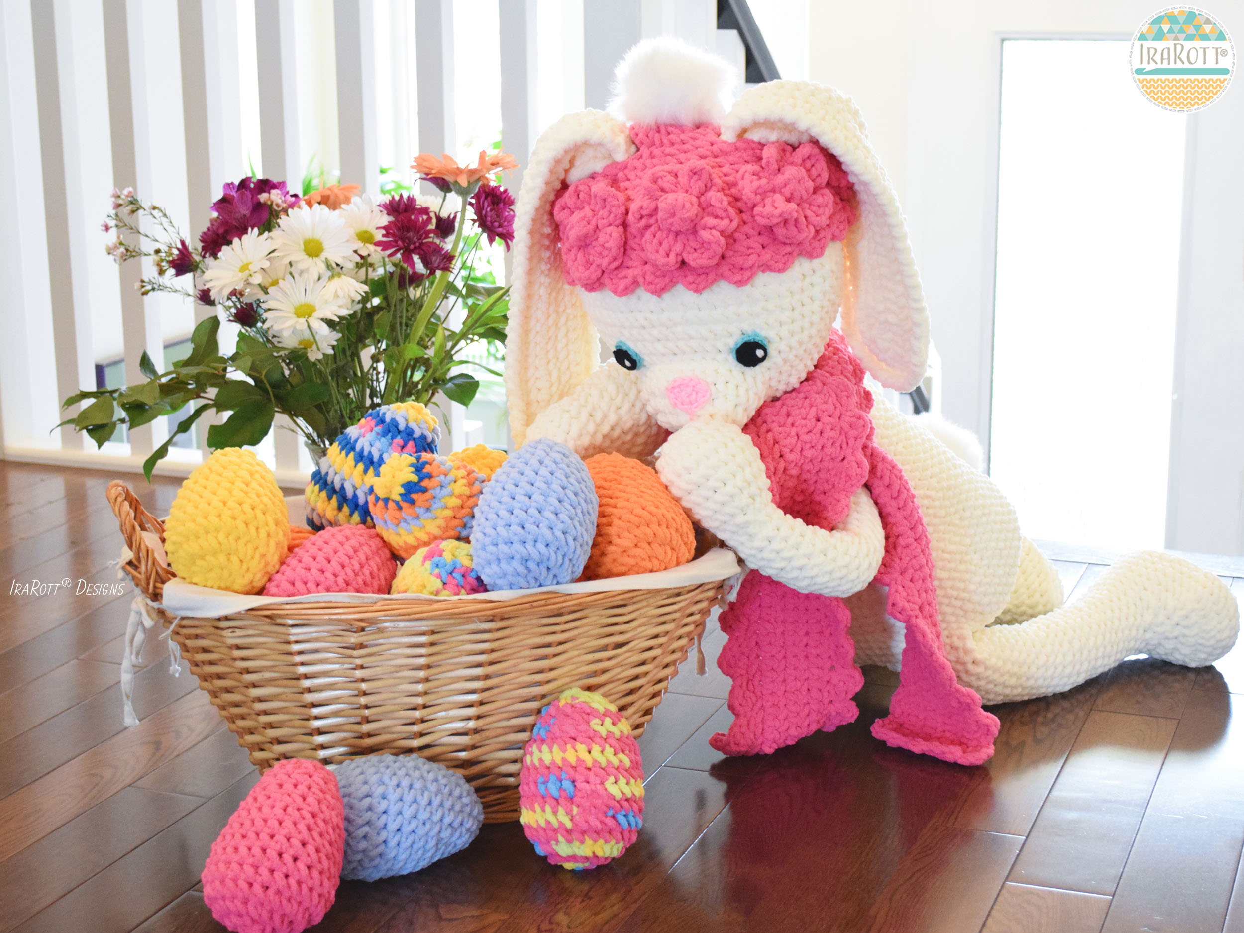 Sunny The Big Easter Bunny Pdf Crochet Pattern Irarott Inc