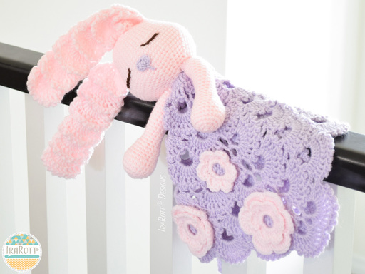 Easter Bunny Lovey Security Blanket Crochet Pattern for Kids and Babies