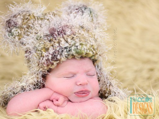 Bear Animal Hat and Diaper Cover Crochet Pattern for Baby Boys and Girls