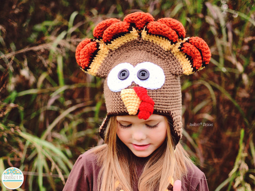Turkey Animal Hat Crochet Pattern for boys and girls of all ages