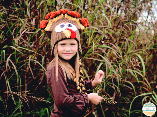Thanksgiving Turkey Animal Hat Crochet Pattern for boys and girls of all ages by IraRott