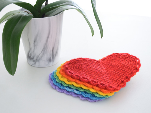 The Hearts Of Hope Coasters Free Crochet Pattern By IraRott