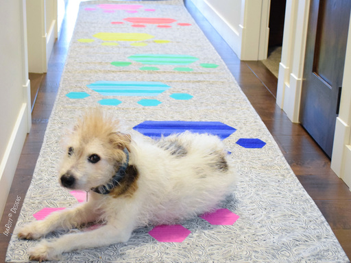 The Pawesome Floor Runner Jelly Roll Rug Quilting Pattern by IraRott