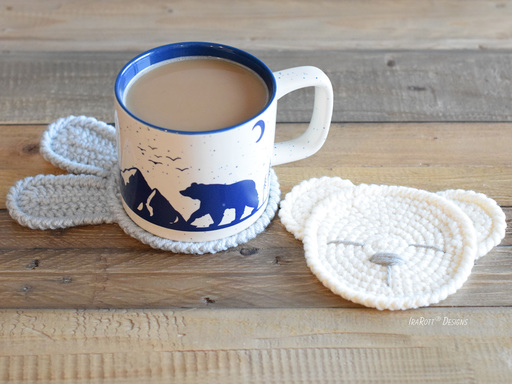 The Sleepy Bunny and Bear Coasters PDF Crochet Pattern by IraRott