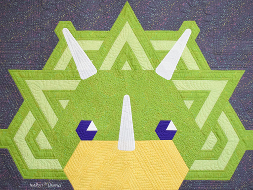 Tops The Triceratops Jelly Roll Rug PDF Quilting Pattern by IraRott