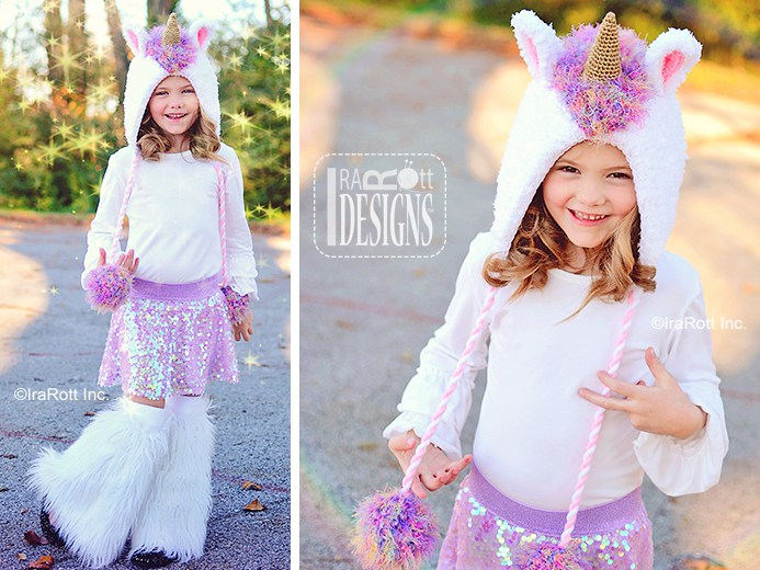 Crochet Pattern For A Unicorn Hat : Stardust the Unicorn Bonnet PDF Crochet Pattern - IraRott Inc.