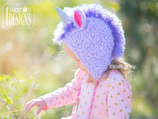 Unicorn Animal Hat Crochet Pattern for babies kids and adults by IraRott
