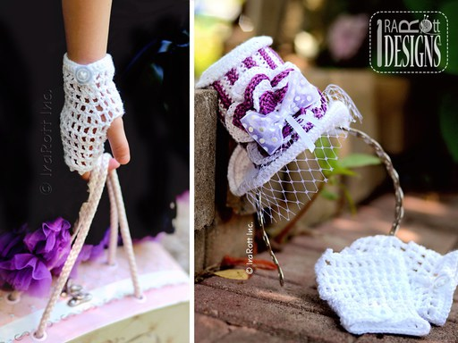 PDF Crochet Pattern for making a Steampunk Style Mini Top Hat and Mittens for all sizes
