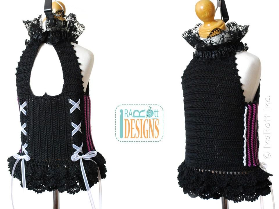 Victorian Goth Steampunk Top PDF Crochet Pattern - IraRott ...