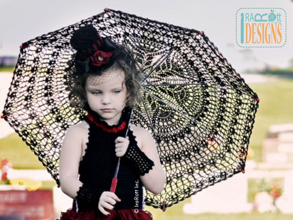 Victorian Goth Steampunk Style Lace Parasol PDF Crochet ...