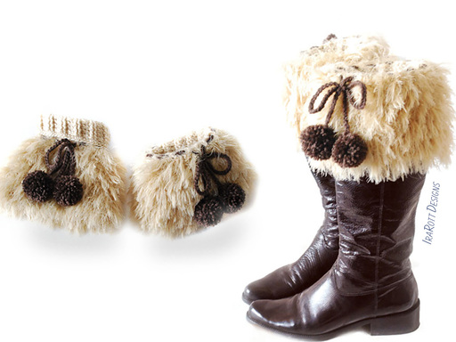Furry Boot Cuffs Covers Crochet Pattern