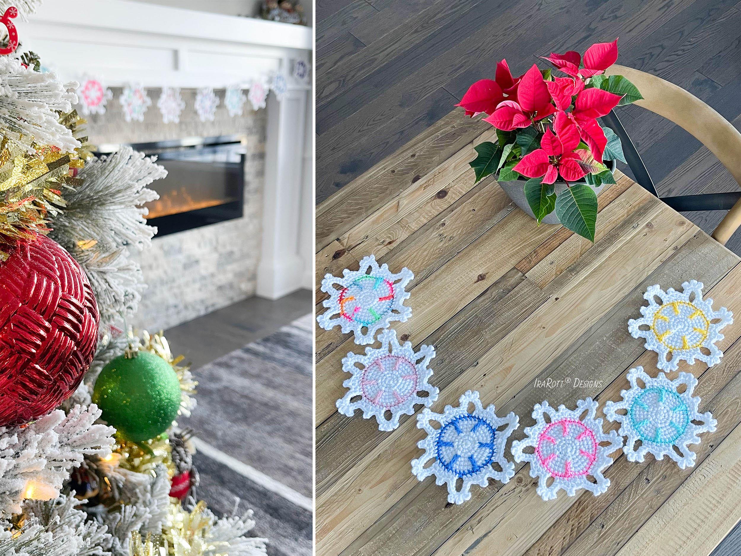 Festive Snowflake Coaster Or Window Decoration Free Pdf Crochet