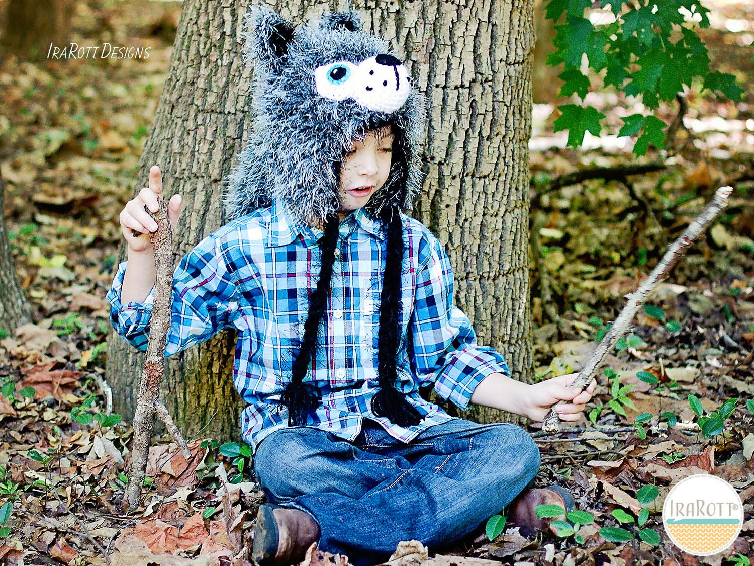 Wolf Animal Hat Crochet Pattern for Babies Kids and Adults by IraRott 66f77758290