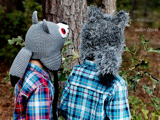 Raff and Rolf The Wolf Tail PDF Crochet Pattern With Instant Download by IraRott