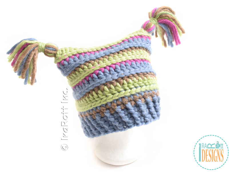 Yarn Amy Square Hat With Pompoms Pdf Crochet Pattern