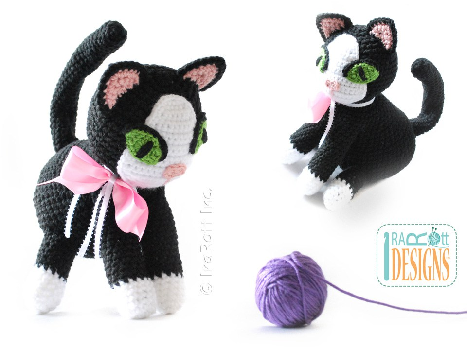 Yin And Yang Siamese Or Tuxedo Kitties Amigurumi Toy Pdf Crochet