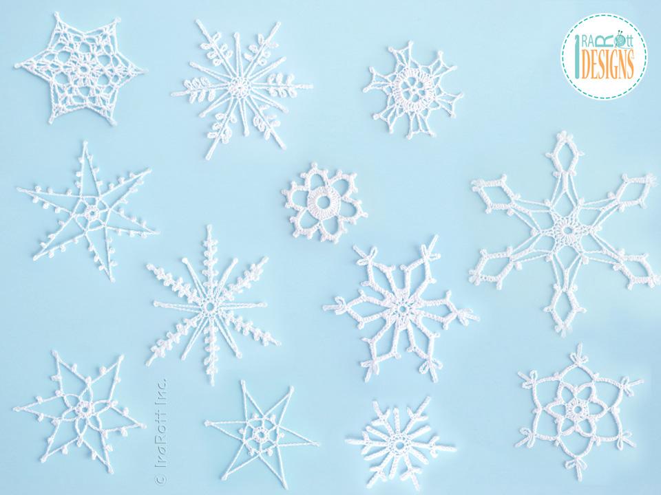 12 Snowflakes For Christmas Tree Free Pdf Crochet Pattern Irarott Inc
