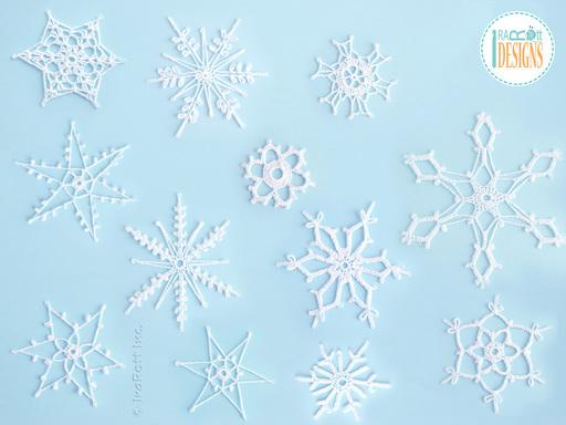 12 Snowflakes For Christmas Tree Free PDF Crochet Pattern