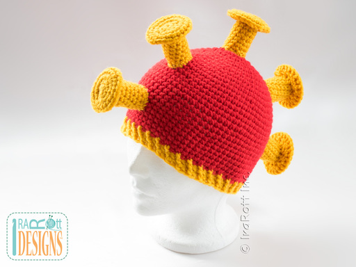 Hawaiian Warrior Helmet Hat Crochet Pattern for kids babies adults of all ages