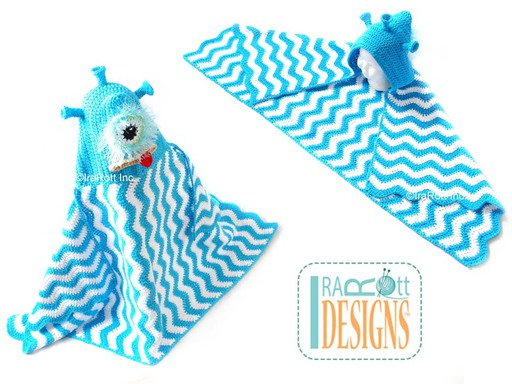 Alien Monster Hooded Blanket or Towel Pattern designed and made by IraRott