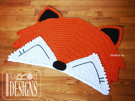 Foxy Fox Nurserry Rug Crochet Pattern designed and made by IraRott