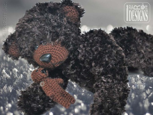 Amigurumi Furry Teddy Bear with Mini Bear Crochet Pattern by IraRott